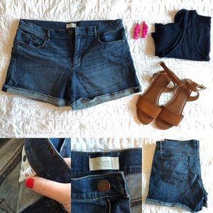 LOFT Cuffed Denim Shorts